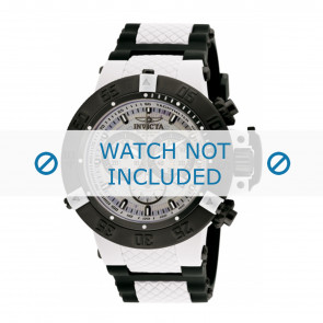 Invicta bracelet de montre 0933 Plastique Blanc 29mm