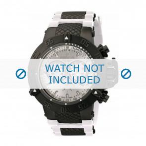 Invicta bracelet de montre 11840 Caoutchouc Blanc
