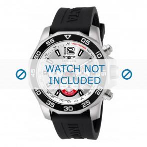 Invicta bracelet de montre 7430 Caoutchouc Noir 22mm