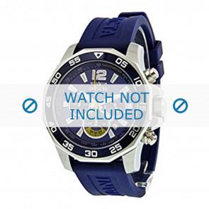 Invicta bracelet de montre 7431 Caoutchouc Bleu 22mm