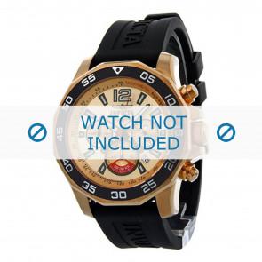 Invicta bracelet de montre 7432 Caoutchouc Noir 22mm