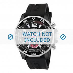 Invicta bracelet de montre 7433 Caoutchouc Noir 22mm