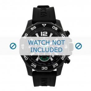Invicta bracelet de montre 7436 Caoutchouc Noir 22mm