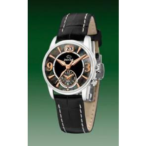 Jaguar bracelet de montre J624-5 Cuir Noir 16mm + coutures blanches