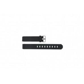 Jacob Jensen bracelet de montre 732 / 742 / 640 / 641 / 660 / 662 / 680 / 681 Caoutchouc Noir 17mm