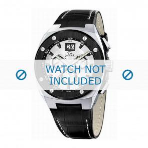 Jaguar bracelet de montre J620/1 Cuir Noir 16mm + coutures blanches