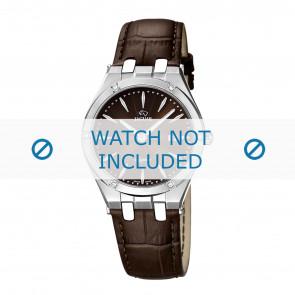 Jaguar bracelet de montre J674-2 Cuir Brun + coutures brunes