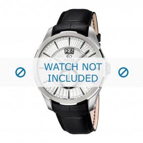 Jaguar bracelet de montre J682-1 / J682-2 / J682-3 / J682-4 Cuir Noir 22mm + coutures noires