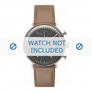 Junghans bracelet de montre 027/4501.01 Cuir Brun 20mm + coutures défaut