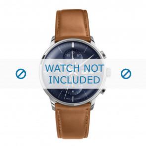Junghans bracelet de montre 027/4526.00 Cuir Cognac 21mm + coutures défaut