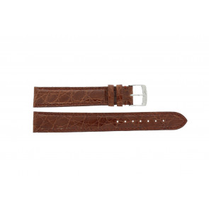 Morellato bracelet de montre Amadeus XL G.Croc Gl K0518052041CR18 / PMK041AMADEU18 Peau de crocodile Brun 18mm + coutures défaut