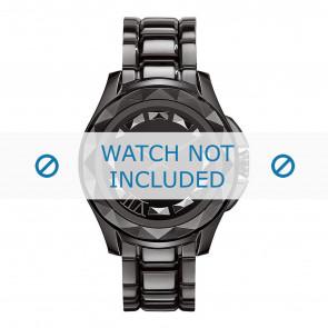 Karl Lagerfeld bracelet de montre KL1001 Métal Noir 10mm