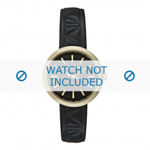 Karl Lagerfeld bracelet de montre KL1610 Cuir Noir