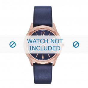 Karl Lagerfeld bracelet de montre KL4004 Cuir Bleu
