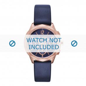 Karl Lagerfeld bracelet de montre KL4010 Cuir Bleu