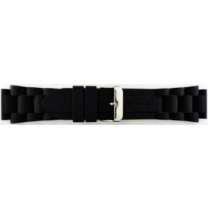 Bracelet de montre En caoutchouc 20mm Noir EX K63 26 1 20