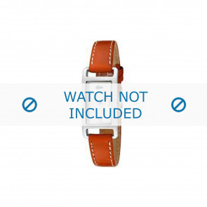 Lacoste bracelet de montre 2000310 / LC-05-3-14-0006 Cuir Orange 12mm + coutures blanches