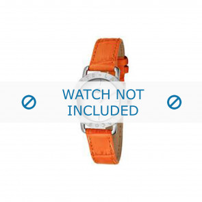 Lacoste bracelet de montre 2000513 / LC-05-3-14-0167 Cuir Orange 13mm + coutures oranges