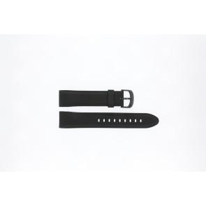 Lorus bracelet de montre PC32-X063 En caoutchouc Noir 22mm