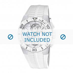 Lotus bracelet de montre 15778.1 Caoutchouc Blanc 26mm