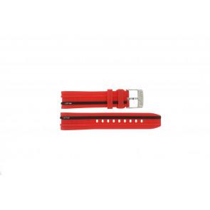 Lotus bracelet de montre 15881/2 Plastique Rouge 22mm