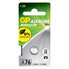 Pile GP A76 - LR44 - V13GA 1,5V alkaline 11.6 mm x 5.4 mm