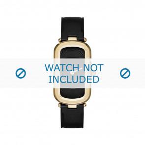 Marc by Marc Jacobs bracelet de montre MJ1484 Cuir Noir 14mm + coutures noires