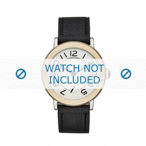 Marc by Marc Jacobs bracelet de montre MJ1514 Cuir Noir 18mm + coutures noires