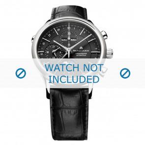 Maurice Lacroix bracelet de montre LC6078-SS001-331 Cuir Noir + coutures noires