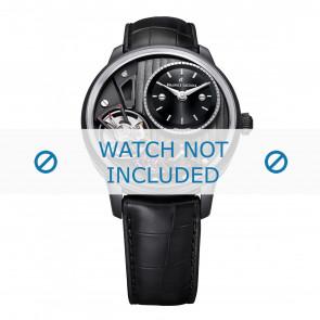 Maurice Lacroix bracelet de montre MP6118-PVB01-330 Cuir Noir + coutures noires