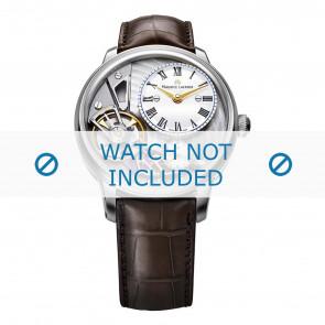Maurice Lacroix bracelet de montre MP6118-SS001-112-2 Peau de crocodile Brun + coutures brunes