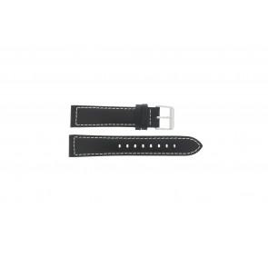 Max bracelet de montre Cuir Noir 20mm