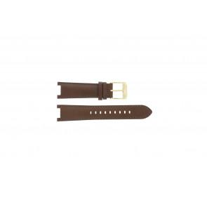 Michael Kors bracelet de montre MK2249 Cuir Brun 20mm + coutures brunes