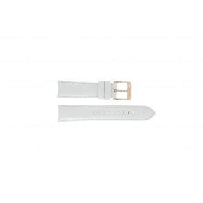 Michael Kors bracelet de montre MK-2289 Cuir Blanc 22mm