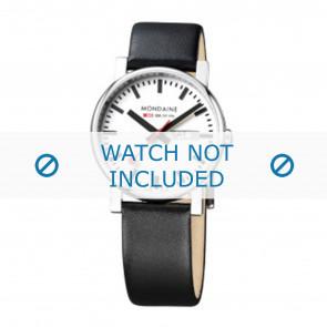 Mondaine bracelet de montre A667.30344.11SBB Cuir Noir 20mm
