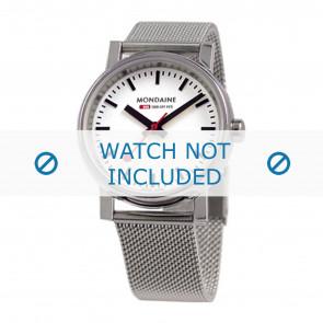 Mondaine bracelet de montre BM20126 / BM20038 / 30300 / 30314 / Classic 36 / Evo 35  Métal Argent 18mm