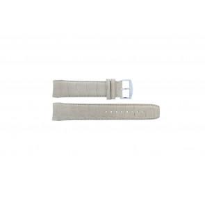 Zodiac bracelet de montre ZO2702 Cuir croco Beige 18mm + coutures défaut