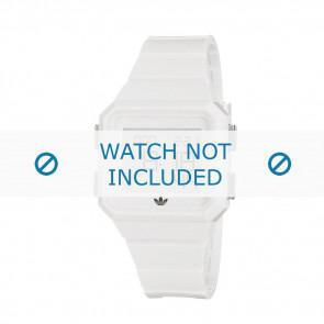 Adidas bracelet de montre ADH4056 En caoutchouc Blanc 20mm