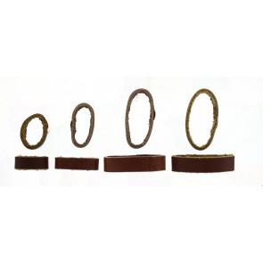 Boucle titulaire bracelet de montre cuir brun 10mm
