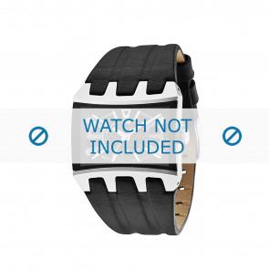 Police bracelet de montre 13420js/02A Cuir souple Noir