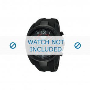 Lorus bracelet de montre PT3605X1 / VD53 X167 Caoutchouc Noir