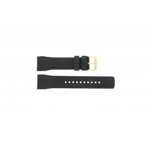 Pulsar bracelet de montre W861-X006 / PQ2048X1 / PP256X Caoutchouc Noir 24mm