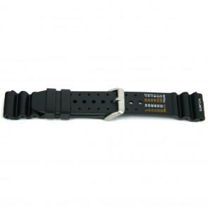Bracelet de montre 8136 / Citizen Caoutchouc Noir 20mm