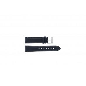 Fossil (Smartwatches) bracelet de montre S221255 Cuir Bleu foncé 22mm
