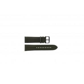 Fossil (Smartwatches) bracelet de montre S221345 Cuir Vert 22mm
