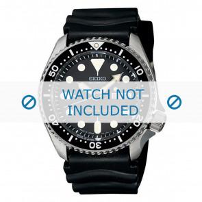 Seiko bracelet de montre 7S26-0020-SKX007K1 Caoutchouc Noir 22mm
