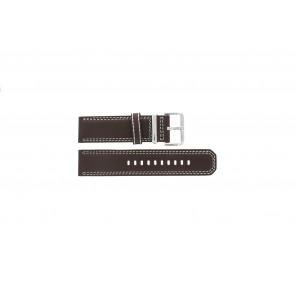 Seiko bracelet de montre 7T62-0HM0 Cuir Brun 24mm