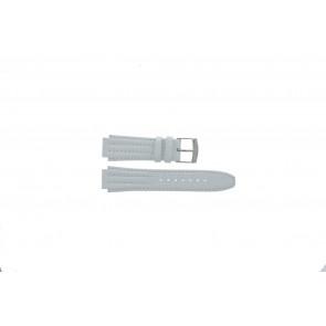 Seiko bracelet de montre 7T92-0HD0 Cuir Blanc 16mm
