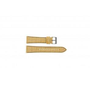 Seiko bracelet de montre 7T92-0NK0 Cuir Brun 22mm