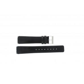 Skagen bracelet de montre 433LSLC Cuir Noir 20mm + coutures défaut